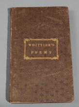 Whittier, John Greenleaf: Poems; Phila. J. Healy, et. al; 1838.