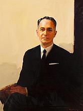 Fred Conway, American (1900-1972), Portrait of David B. Lichtenstein, oil on canvas, 42 x 31 inches