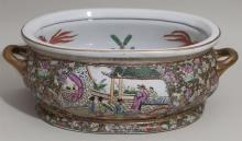 Large foot bath bowl with Asian design
