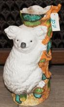 Porcelain planter in the form of a koala bear
