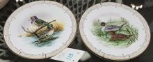 Four bone china plates depicting water birds of North America, limited editions