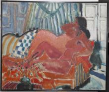 Elizabeth Cavanagh Cohen, St. Louis, Reclining Figure, 1963 , oil on canvas , 31.5 x 37 inches