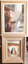 Two framed oil paintings