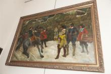 Large framed oil painting, signed by artist, of a Spanish scene - 39