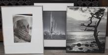 Two framed photographs and an unframed photograph