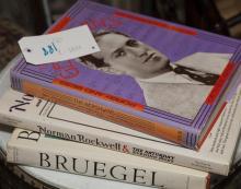 Three books: The Gershwins, Norman Rockwell, and Bruegel
