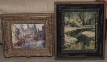 Two framed oil paintings, both artist signed