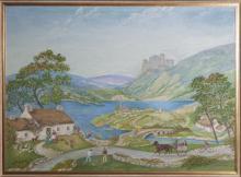 Dolley Dionysius, Framed fantasy landscape scene