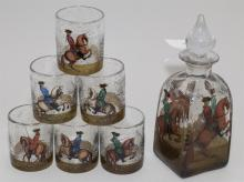 Decanter set including a decanter and six glasses