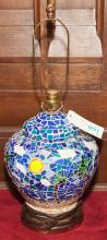 Table lamp with mosaic decoration