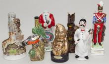 Seven assorted figural decanters