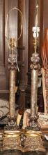 Pair of table lamps with gilt accents