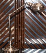 Mid-century modern chrome table lamp with adjustable arm
