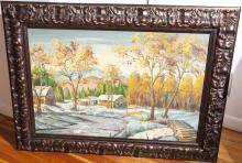 Allison, 20th century, Winter mountain landscape, oil on canvas, 24 x 36 inches