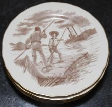 Seven plates from the Mark Twain plate collection