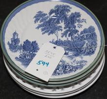 Collection of seven plates in various patterns