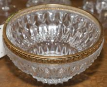 Crystal bowl with gold band - diameter: 11