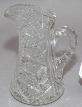 Cut glass water pitcher