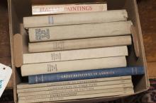 Collection of reference books:  Art History; French, Italian, Spanish, Flemish and American paintings