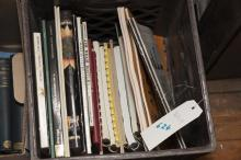 Collection of reference books on glass