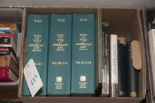 Collection of reference books on American art