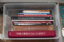Collection of assorted reference books on primarily the arts of North American Indians