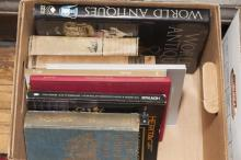 Variety of reference books on jewelry, clocks, and Italian and French furniture