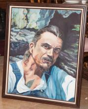 Framed oil painting, titled
