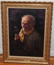 M. S. Rosa, 20th century, The Maestro,, oil on canvas, 28 x 20 inches