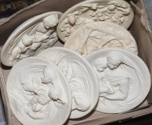Six limited edition Italian decorative plates