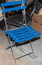Metal and plastic modern folding patio chair