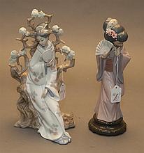 Two Lladro femalefigurines; Chrysanthemum Geisha (11 1/2