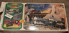 Early eight piece Lionel train set, locomotive and seven cars.