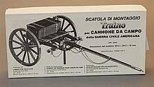 Scatola Di Montaggio Traino American Civil War Limber field gun model