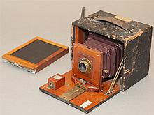 Rochester Optical Company Premo D large format box camera, circa 1900, with extra plate