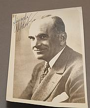 Autographed black and white photograph of Al Jolson