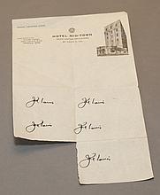 Joe Louis autograph