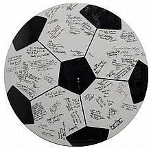 Lucite Soccer Ball Signature Plaque for Kyle Kerner son of Ben Kerner of the Saint Louis Hawks Provenance: Ben Kerner, Hawk Owner