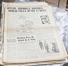 Collection of assorted newspaper pertaining to WW2,