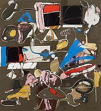Ernest Trova, American (1927-2009), Untitled 12, 1994, casein and acrylic on board, 30 x 28 inches