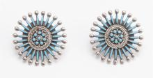 Zuni turquoise and silver earrings