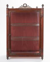 French Empire style walnut diminutive vitrine