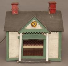 Antique American painted doll house.