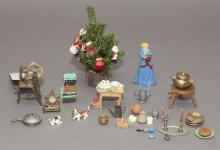 Collection of small doll house miniature decorations