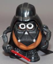 Mr. Potato Head Doll dressed as Darth Vader