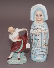 Two German bisque figurines