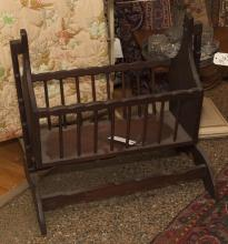 Antique American doll cradle
