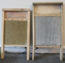Two American vintage washing boards