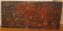 C.S. Magnor, American 20th Century, Red city, 1984, oil on board, 24 x 48 inches