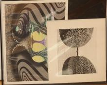 Two contemporary Japanese woodblock prints, both unframed